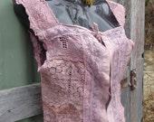 WILD LACE  cami top, hippy romance, bohemian blouse, small/ medium