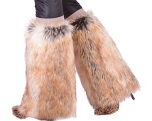 Red Fox Faux Fur Boot Covers