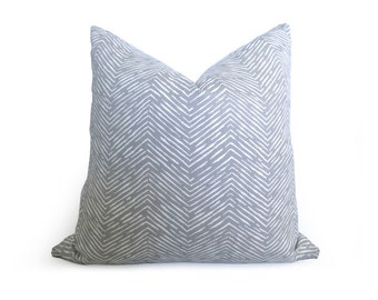 Decorative Chevron Pillow - GRAY - 18 inch - Designer Pillow - Flamestitch Pillow - Throw Pillow - Zig Zag - Throw PIllow - Gray Pillow
