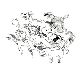 Another Dead Horse Parade Art Print
