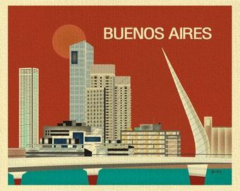 Buenos Aires Print, Argentina Art, Buenos Aires art, Buenos Aires Argentina, Buenos Aires, style orange E8-O-BUE-O