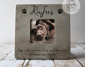 Dogs Come Into Our Lives And Leave Paw Prints On Our Hearts Pet Memory Picture Frame, Personalized Pet Picture Frame