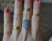 SKELETON STACKS /// Dainty Stacking Rings /// Gold