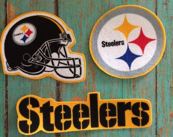 Pittsburgh Steelers iron on applique set
