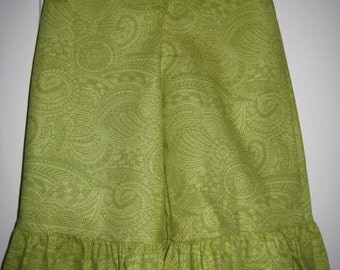 Green Paisley Ruffle Pants 6 12 18 24 months 2 3 4 5 years