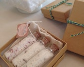 All Natural Bath Salt Vial Trio Set