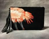 SALE Flamingo Butt Clutch