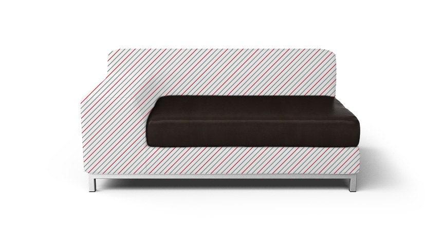 custom ikea kramfors seat cushion cover only 1 armrest