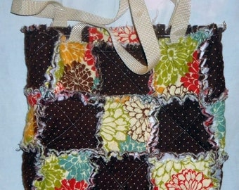 Quilted Rag Bag/Tote (Reversible)
