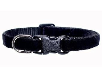 """Cat Collar - """"The Little Black Collar"""" - Black Velvet"""