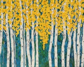 Nena Made To Order Birch  Aspen Tree Extra Large Original Acrylic Painting 60 x 48 x 1.25