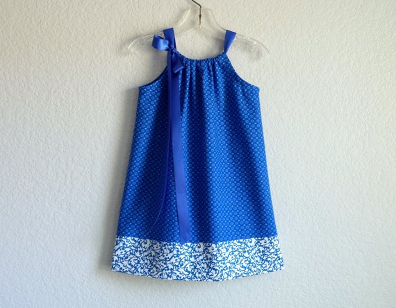 Like this item? & Girls Royal Blue Pillowcase Dress Royal Blue with Dots and pillowsntoast.com