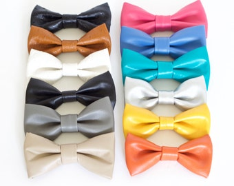 12 colors of Vegan leather Bow Tie to choose from, Pet Dog Cat Tuxedo Shirt Collar Designer Dog collar Dog Tuxedo Collar, Wedding Dog Collar