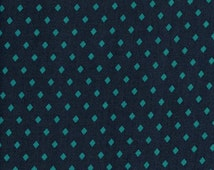Gemstone in teal from the rayon frock fabric collection by Sarah Watts for cotton and steel 1/2 yard