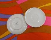 2 Arzberg Germany Porcelain Saucer Plates - Solid White #253 - Modern Minimalist