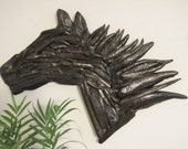Driftwood Horse Head Silhouette Horse Decor Equestrian Decor