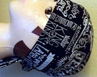 Black Skull Cap or Chemo Cap with Christian Sayings, Bald, Do Rag, Alopecia, Bandana, Hair Loss, Motorcycle, Helmet Liner, Hat, Handmade