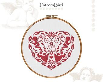 Christmas heart II. Instant Download PDF Cross Stitch Pattern