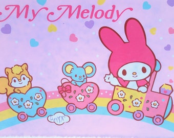 Vintage My Melody Sanrio Stationary Notebook Address Diary Phone book Paper Pages Pastel Pink Bunny mouse Squirrel Train