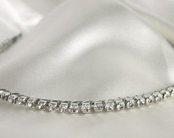Simple Rhinestone Headband - Rhinestone Tiara - Bridal Hair Piece - Wedding Headband - Veil