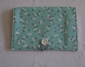 Medium Calendar cover in Blue Blossom- journal planner, planners and organizers, planner cover, planner portfolio, desk calendar