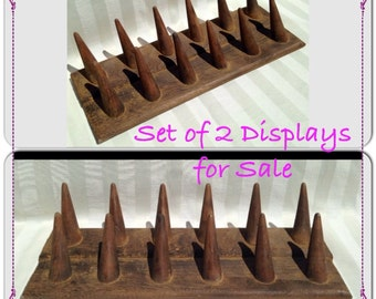 2 ~ 12 Cones Ring Display ~ Wood Ring Display ~ Ring Display ~ Ring Holder ~ Ring Organizer ~