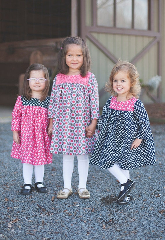 INSTANT DOWNLOAD- Emory Dress  (sizes 12 /18 months to 10) PDF Sewing Pattern and Tutorial