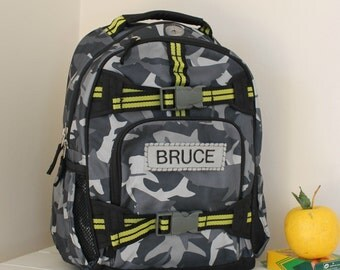 Small Boys Backpack Mackenzie Pottery Barn (Small Size) -- Gray Shark Camo