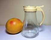 Vintage Syrup Dispenser Pitcher Dripcut 214J Spring Closure Diner Breakfast