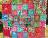 LIlly Pulitzer Girl or Dorm  Rag Quilt 44 different Lilly Patterns Port of Caw Rock the Hula ect...
