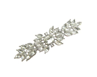 New Arrival - 2 Crystal Rhinestone Brooch for Wedding Cake, Bridal Sash, Hair Comb, Gift Box, Ring Pillow BRO-039 (62mm  or 2.4 inch)