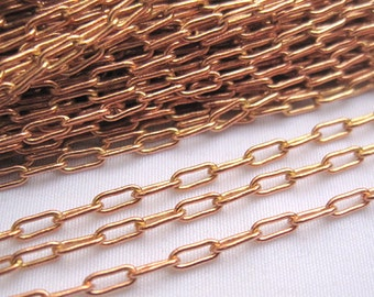 6ft Small Copper China Link 2x5mm Brass Chain Loose Findings bc024