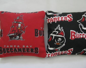 Tampa Bay Buccaneers Cornhole Bags NFL Corn hole Corn Toss Baggo Set of 8