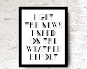 SALE 8x10 Song Quote Print Wall Office Art Poster Black white typography Dudes Unisex Gift Home Decor. Simon And Garfunkel