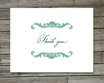 Floral Swirl Thank You Card