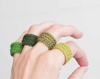 Crochet wrapped ring. Choose your color. Bridesmaid gift. Gifts for Bachelorette Party. Lightweight and adaptable to the finger.Eco friendly