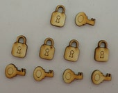 Key with lock - Use for earring stud - EAR031