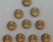Smiling Face - Use for earring stud - EAR033