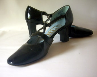 Geppetto Dressy Strappy Mary Janes 1970's Size 7 AAAA (4A)  Narrow