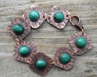 Native American Inspired Malachite Bracelet