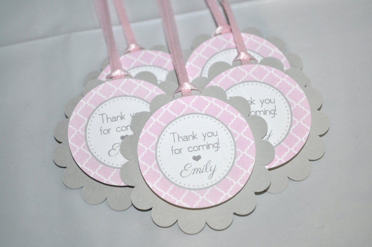 girls baby shower favor tags it 39 s a girl favors pink