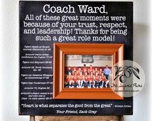 Coaches Gift, Custom Personalized Gift for Coach, Coach Picture Frame Gift, Cheer Coach Gift, Soccer, Basketball Coach Thank you Gift, 16x16