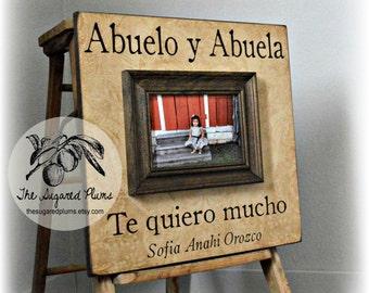 Abuelo, Abuela, Spanish, Grandparents Frame, Grandpa, Grandma, Grandmother, Grandfather, Nana, Cousins 16x16 The Sugared Plums