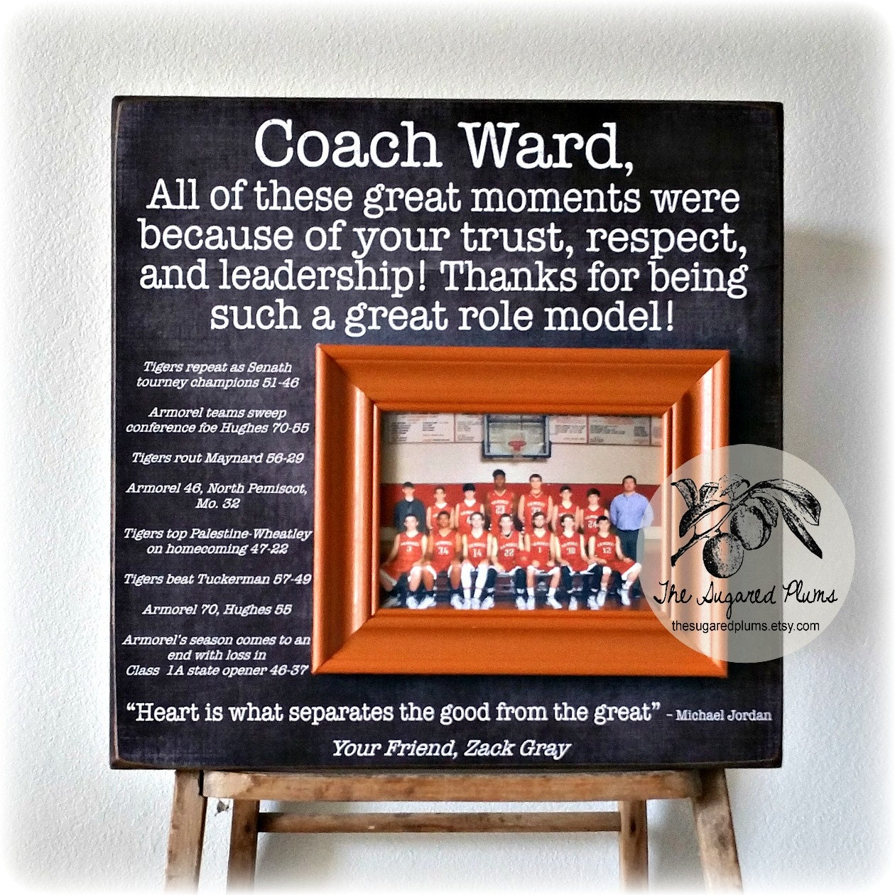 Coaches Gift Custom Personalized Gift For Coach Coach