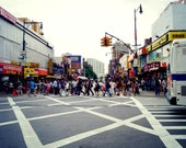 NYC People Walking Around in Flushing, Queens Photography Print, New York City Wall Art