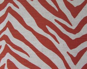 TIGRESS in orange paprica  Linen cotton designer multipurpose fabric