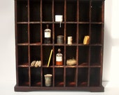 SOLD to Darreby / Balance / Vintage Postal Cabinet / Mail Sorter / Collection Display Cabinet / Divided Storage Cabinet / 28 Cubby Storage