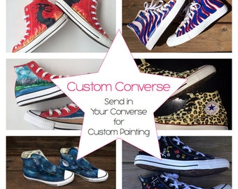 Custom Painted Converse Send Your Shoes to Be Customized Hand Painted