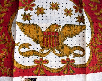 SALE America July 4th Kay Dee Linen towel Lois Long red Eagle