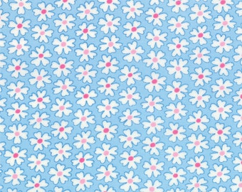 Giggles Blue Daisies #04-14 Me & My Sister  Moda Quilt Fabric by the 1/2 yd